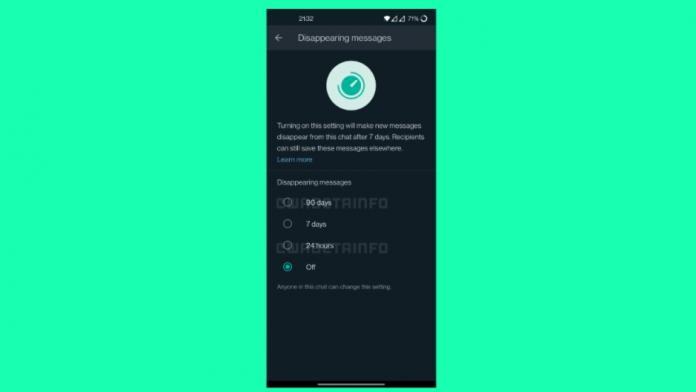 WhatsApp in curand puteti trimiteti mesaje care dispar dupa 90 de zile