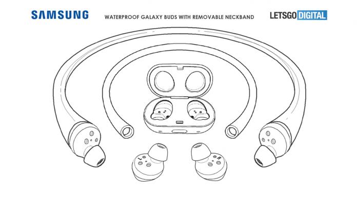 Casti impermeabile cu bandă pentru gat Samsung Galaxy Buds