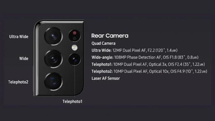 Galaxy S22 Ultra va avea camere cu zoom continuu