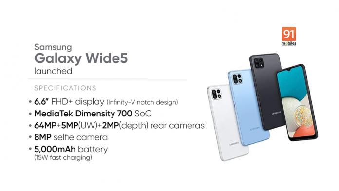 Samsung Galaxy Wide5 a fost lansat in Coreea de Sud