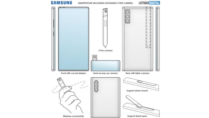 Smartphone Samsung Galaxy Note cu o camera detasabila si S Pen
