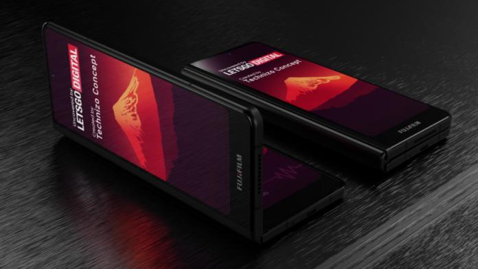 Smartphone pliabil Fujifilm arata ca Samsung Galaxy Fold