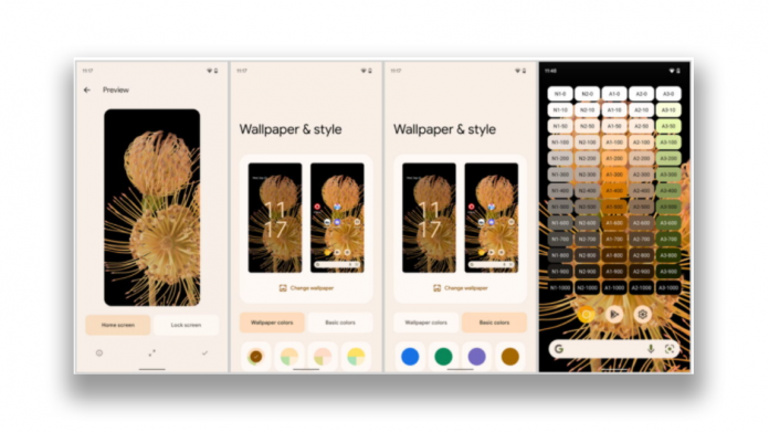 Telefoanele Samsung cu imagini de fundal Material You in Android 12