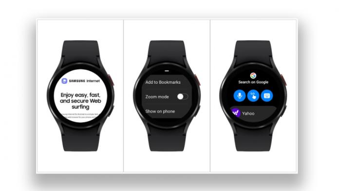 Browserul Samsung Internet este disponibil pe seria Galaxy Watch 4